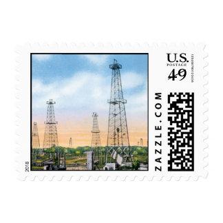 Vintage Oklahoma Postage Stamps