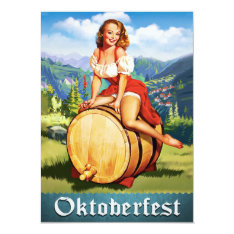 Vintage Oktoberfest Invitation at Zazzle