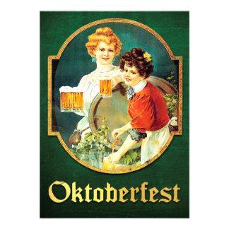 Vintage Oktoberfest Invitation