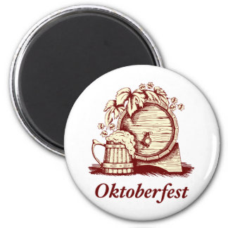 Vintage Oktoberfest Fridge Magnet