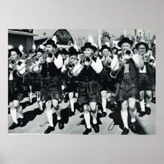 Vintage Oktoberfest, Munich, banda de metales Impresiones