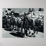 Vintage Oktoberfest, Munich, Brewery horses Poster