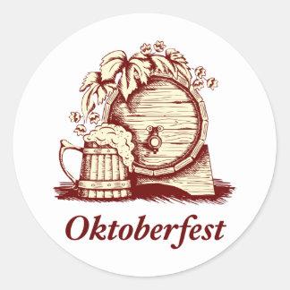 Vintage Oktoberfest Pegatina Redonda