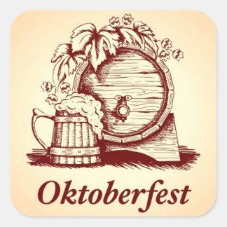 Vintage Oktoberfest Calcomanía Cuadradas Personalizada