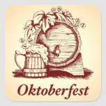 Vintage Oktoberfest Pegatina Cuadrada