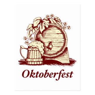 Vintage Oktoberfest Tarjeta Postal