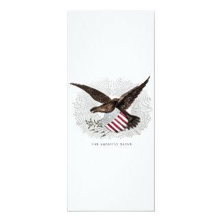 Vintage Old 1800s American Eagle Bird Illustration Card