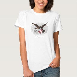 Vintage Old 1800s American Eagle Bird Illustration T-Shirt