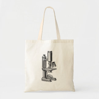 Vintage Old Antique Science Equipment Microscope Tote Bag