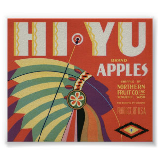 Vintage Old Apple Fruit Crate Labels Posters