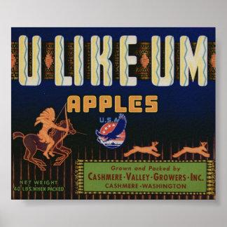 Vintage Old Apple Fruit Crate Labels Print