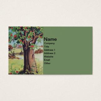 Vintage Old Apple Tree Meadow Field Business Card