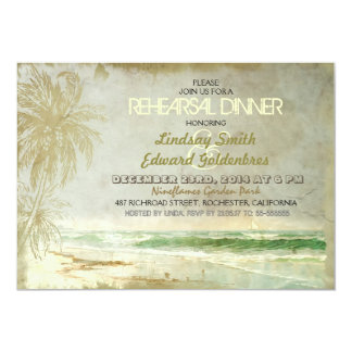 "vintage old beach rehearsal dinner invitations 5"" x 7"" invitation card"
