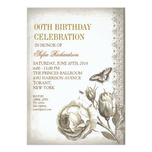 Vintage Birthday Party Invitations 41