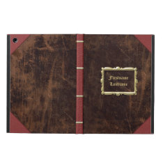 Vintage Old Book Leather-look Personalized Ipad Air Covers at Zazzle