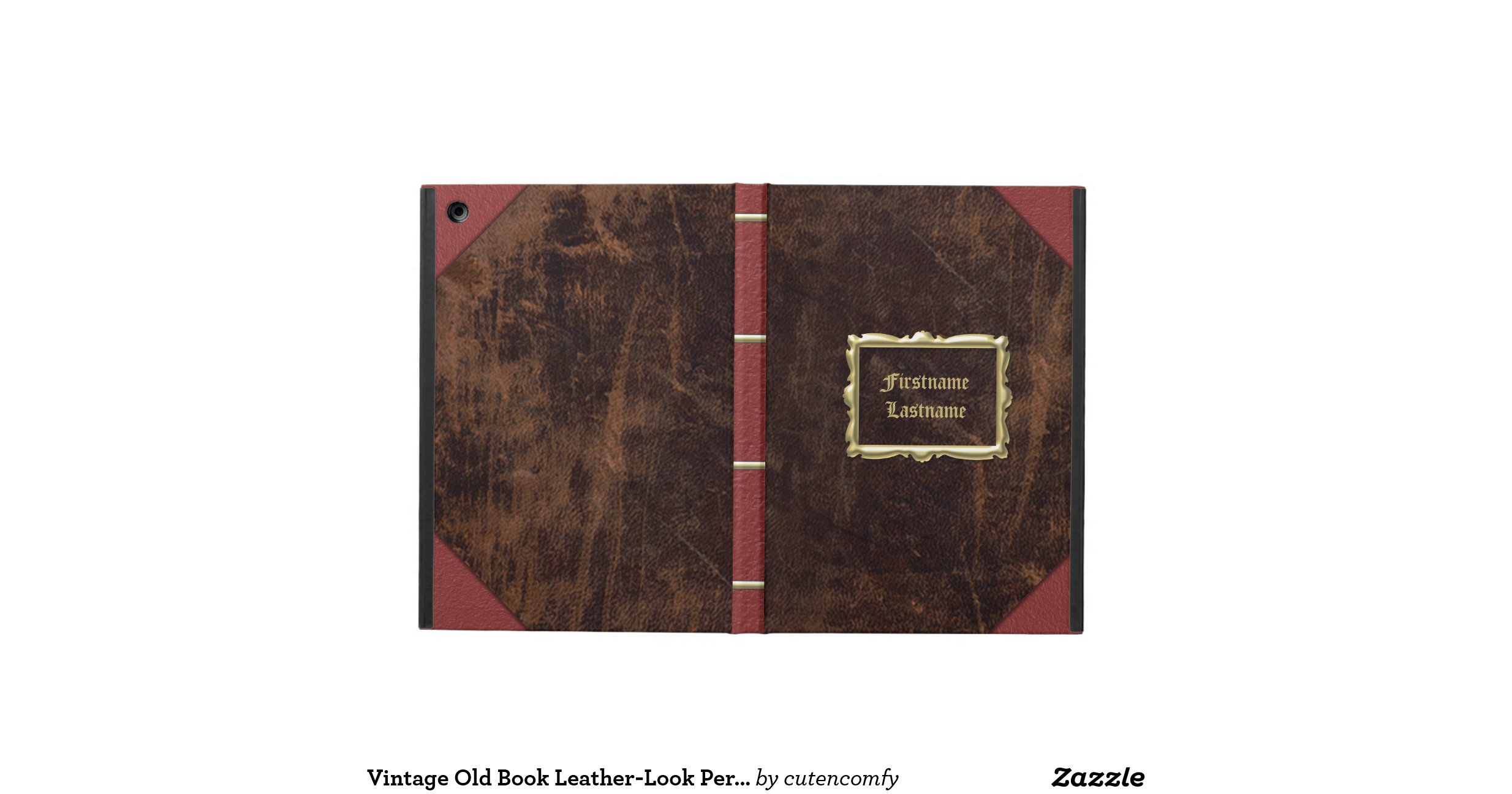 Old Book Cover Ipad : Vintage old book leather look personalized case for ipad