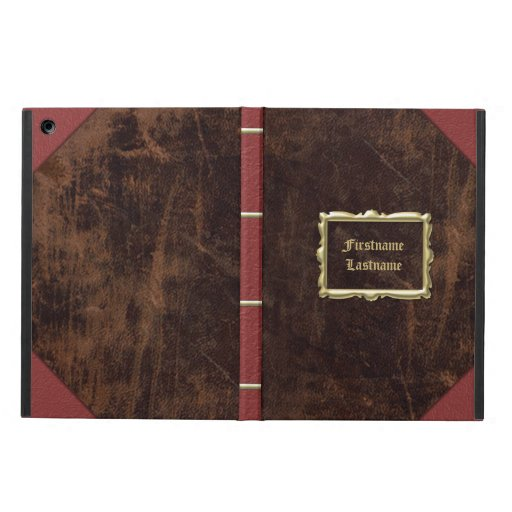 Vintage Book Cover For Ipad Air : Vintage old book leather look personalized case for ipad