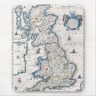 Vintage Old Britain Map History-lover Design Mouse Pad