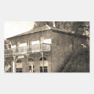 Vintage Old Building of Stone Rectangular Sticker