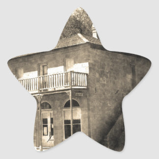 Vintage Old Building of Stone Star Sticker