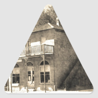 Vintage Old Building of Stone Triangle Sticker