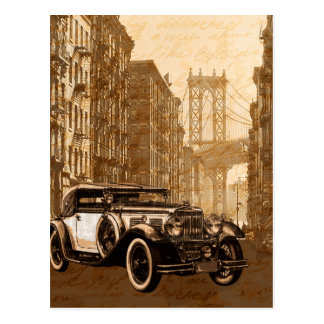 Vintage Old car Postcard