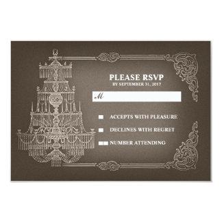 vintage old chandelier wedding RSVP cards