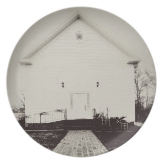 Vintage Old Church Party Plate