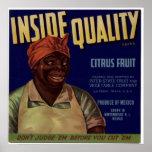 Vintage Old Cirtus Fruit Crate Labels Poster