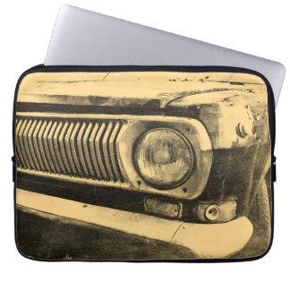 Vintage Old Classic Car Headlight Laptop Sleeve
