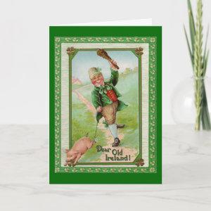 Vintage Old Dear Ireland Card