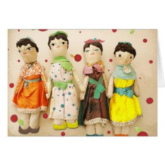 Vintage old dolls friends forever Rupydetequila Card