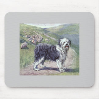 Vintage old english sheepdog mouse pad