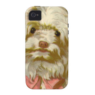 Vintage Old English Sheepdog pet puppy cute Case-Mate iPhone 4 Cases