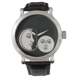vintage old face and moon wrist watches