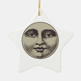 vintage old face vo1 ceramic ornament
