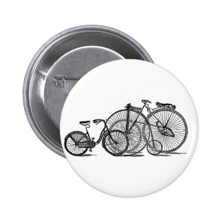 Vintage Old Fashion Bicycle Pinback Buttons
