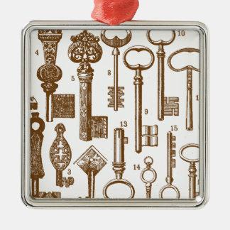 Vintage Old Fashioned Antique Key Set Metal Ornament