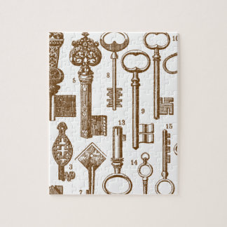 Vintage Old Fashioned Antique Key Set Puzzle