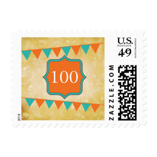 Vintage / old fashioned birthday - 100 years postage