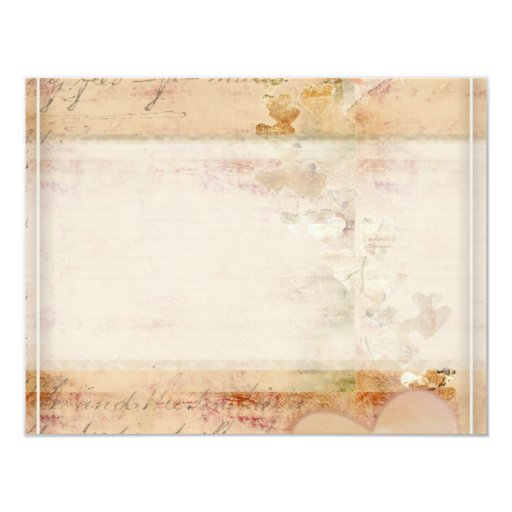 Vintage, old fashioned design 4.25x5.5 paper invitation card