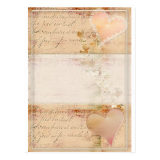 Vintage, old fashioned design postcard