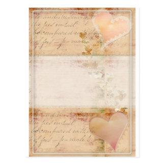 Vintage, old fashioned design post card