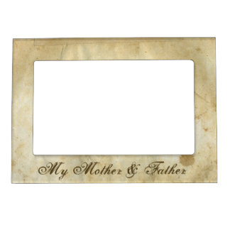 Vintage Old Fashioned Paper Magnetic Picture Frame