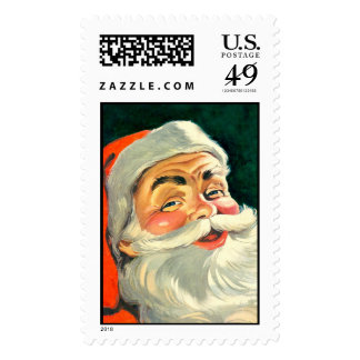 Vintage old fashioned Santa Claus Stamps
