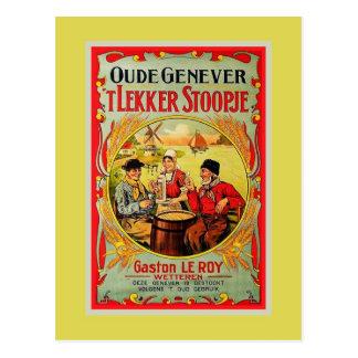 Vintage Old Flemish Genever (Jenever, Gin) ad Postcard