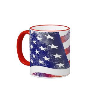 Vintage Old Glory Flag Ringer Mug