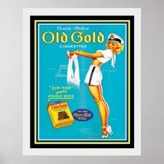 Vintage Old Gold Cigarette Ad Poster 16 x 20