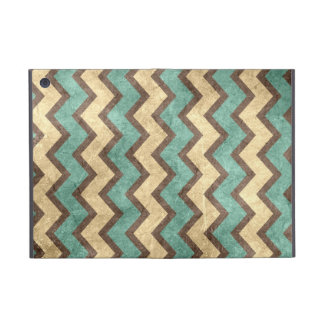 vintage old grungy paper effect chevron zigzag cases for iPad mini