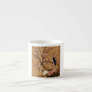 Vintage Old Japanese Painting of A Bird On A Tree Espresso Cup